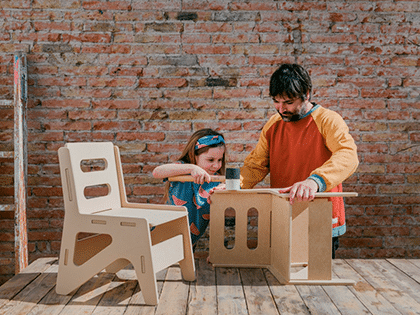 Taller creativo de montaje de muebles para peques